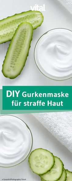 Gurkenmaske selber machen: Hinter einer Gurke steckt mehr als nur ein leckeres G… Cucumber mask make yourself: Behind a cucumber is more than just a delicious vegetables, it is a blessing for the face. Try our mask with cucumber and quark! Health Day, Hair Health, Diy Mask, Diy Face Mask, Mascarilla Diy, Belleza Diy, Cucumber Mask, Diy Beauté, Rides Front