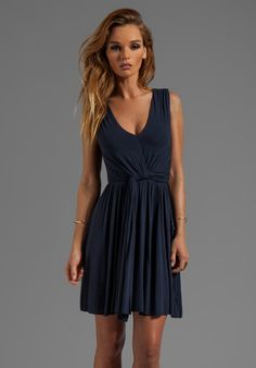 BAILEY 44 Madrigal Pleated Dress in Navy - Dresses $195.00