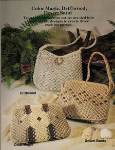 Purses 'a la Macrame Craft Book Patterns & by KingsKountry