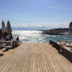 Strand von Antalya Antalya, New York Skyline, Liberty, Hotels, Beach, Travel, Shop Signs, Vacation, Political Freedom