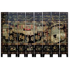 19th Century Chinese Coromandel Lacquer Screen | From a unique collection of antique and modern paintings and screens at https://www.1stdibs.com/furniture/asian-art-furniture/paintings-screens/