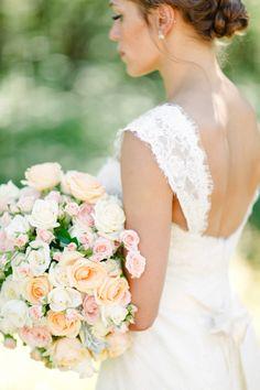 Summer garden wedding bouquet