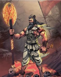 The Brahmin warrior and the sixth incarnation of Lord Vishnu, Lord Parshuram is one of the eight immortals of Hindu tradition. Appeared to overcome the overwhelming evil on earth, tributes to the great sageFolded hands Hanuman Ji Wallpapers, Lord Krishna Hd Wallpaper, Maha Shivaratri Wishes, Mobile Cartoon, Lord Shiva Pics, Rama Lord, Red And Black Wallpaper, Indian Illustration, Lord Shiva Painting