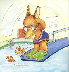 Bunnies Swim