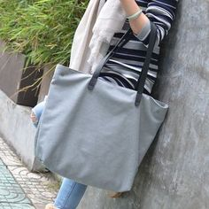 Buy Aoba Plain Shopper Bag at YesStyle.co.uk! Quality products at remarkable prices. FREE SHIPPING to the United Kingdom on orders over £25.