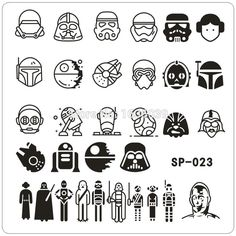 Star Wars Design Nail Art Stamping Image Plates Stainless Steel High Quality DIY Template konad #>=#>=#>=#>=#> Click on the pin to check out discount price, color, size, shipping, etc. Save and like it!