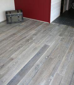 wood floor | Old Grey / Reclaimed engineered floor / Hand-made wood ...