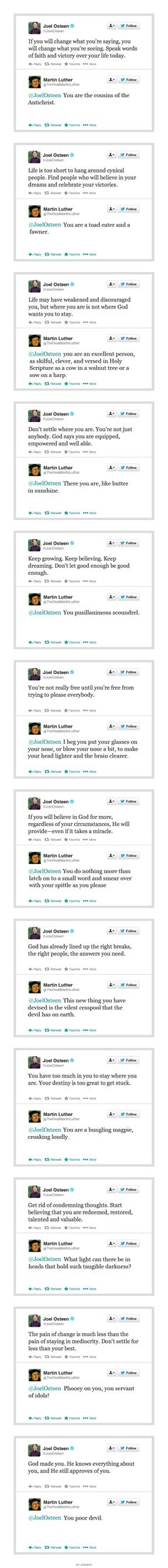 Luther responds to some Joel Osteen  TRUTH!!