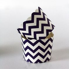 Chevron Straight Sided Baking Cups (Dark Purple), 24 for $2.95...best price I've seen.  {Sweet Baking Supply}