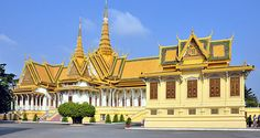 Architecture. Phnom Penh Royal Palace, Cambodia.