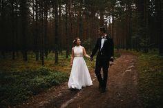 Real wedding in Finland. Dress made by Pukuni (www.pukuni.fi). Wedding dress with chiffon and lace. Photography / Jere Satamo