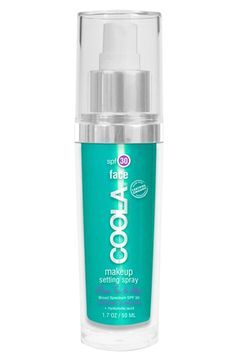 This COOLA Suncare SPF30 spray prevents makeup meltdown and protects skin against the sun.