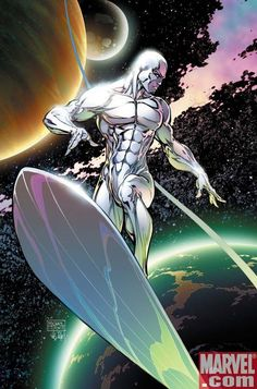 Silver Surfer - Michael Turner and Peter Steigerwald Ms Marvel, Marvel Comics Art, Marvel Comic Books, Comic Book Heroes, Marvel Heroes, Comic Books Art, Captain Marvel, Comic Book Artists, Comic Book Characters