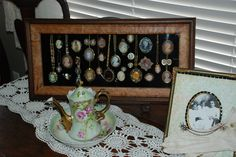 DECORATING:  what a great way to display a cameo collection!