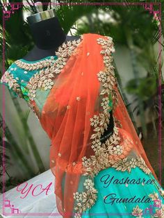 Half Saree Lehenga, Lehenga Style, Lehnga Dress, Lehenga Blouse, Floral Lehenga, Sari, Half Saree Designs, Lehenga Designs, Saree Blouse Designs