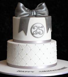 silver anniversary cake - Google Search