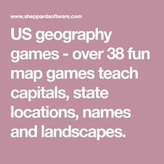 Sheppard Software Usa Map.Konos 3 Cp States Capitals Of The Usa Geography