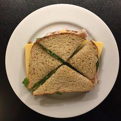 TURKEY SANDWICH:  Bread, Turkey, Cheese, Greens, Mayo, Mustard