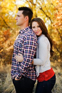 Engagement photography Great colors if he is to do plaid you would need a solid color outfit but with layers.