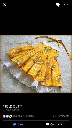 Frocks For Girls, Kids Frocks, Little Dresses, Little Girl Dresses, Toddler Dress, Baby Dress, Couture Bb, Frock Design, Sewing For Kids