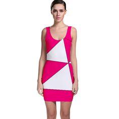 Pink+White+Art+Kids+7000+Bodycon+Dress