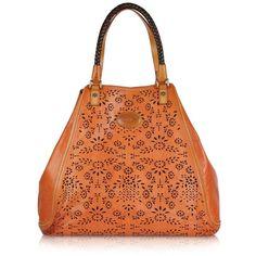 La Martina Polo Club - Orange Perforated Leather Tote .. LaMartina Polo Club - Perforated Leather Tote...forzieri.com