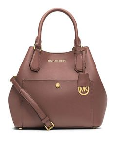 Greenwich Bicolor Large Grab Bag, Cinder/Dusty Rose by MICHAEL Michael Kors at Neiman Marcus.