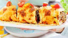 Muheva jauhelihapannarirulla on koko perheen suosikkiruoka! No Salt Recipes, Bolognese, Deli, Quiche, Sushi, Food To Make, Dinner, Breakfast, Ethnic Recipes