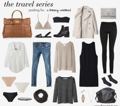 for a breezy weekend for travel or everyday life - I love this simple style! > capsule wardrobe inspirationfor travel or everyday life - I love this simple style! Travel Capsule, Travel Wear, Travel Style, Travel Fashion, Travel Outfits, Work Travel, Packing Outfits, Travel Attire, Packing Clothes