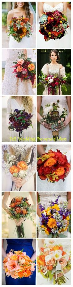 fabulous fall wedding bouquet ideas