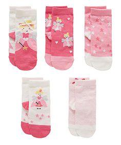 Girls 5 Pack Cotton Rich Antibacterial Socks Fresh Feel