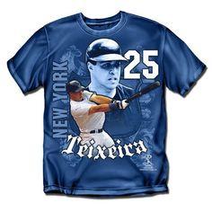 New York Yankees MLB Mark Teixeira #25 Players Shield Mens Tee (Navy) (X Large)