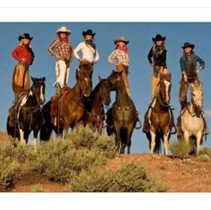 "~ As Mater (Cars) says: ""Git 'er done!"" What a feat, cowgirls balancing on horseback. Don't try this at home, ha, ha! For experienced cowgirls only. ~"