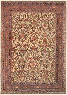 "HALVAI BIJAR (Bidjar), 11' 3"" x 15' 10"" — Circa 1875, Northwest Persian Antique Rug - Claremont Rug Company  Click to learn more about this rug."
