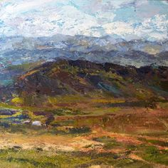 Warm water, Cool Hill   2012 Oil on canvas   400 x 400