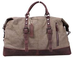 Blueblue Sky Oversized Leather Canvas Casual Travel Tote Luggage Duffel Handbag#831 (Army Green XL 21.6 in) Canvas Leather Bags http://www.amazon.com/dp/B00SCMOW2K/ref=cm_sw_r_pi_dp_x3lxvb0SXPSB7
