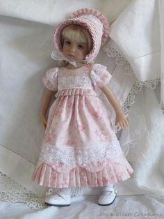 "13"" Effner Little Darling BJD fashion soft pink Regency set OOAK handmade by JEC #ClothingAccessories"