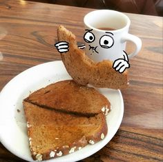 Coffee Tryin to steal my toast! Thank you all for watching and sharing aug(de)mented Reality Hello LA (at Franks Coffee Shop) # Instagram Story Ideas, New Instagram, Instagram And Snapchat, Artsy Photos, Draw On Photos, Photography Illustration, Photo Illustration, Doodle Photo, Foto Cartoon