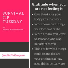 There is always SOMETHING to be grateful for...