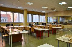 Sala general y sala de estudio en grupo, al fondo.