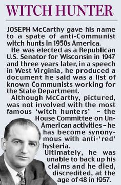 mccarthyism by a myan essay Mccarthyism started in the united states in 1950 and lasted for several years   these essay prompts will serve as your students' demonstration of learning.
