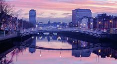 River Liffey At Dawn - Dublin Print by Barry O Carroll Customs House, Dublin City, Over The River, Beverly Hills, Fine Art America, Dawn, New York Skyline, Instagram Images, United States