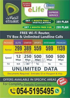 Internet News, Home Internet, Internet Packages, Sports Channel, Tv Channels, Sharjah, Wifi, Packaging, How To Plan