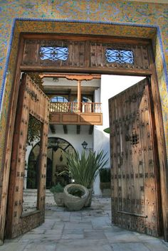 Gorgeous Hacienda Style - we need a front door like this!