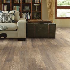 """Shaw Floors Reclaimed Plus 8"""" x 48"""" x 8mm Laminate in Cottage"""