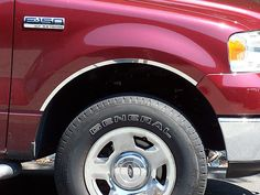 F150 2004-2008 FORD (4 piece stainless steel wheel Well trim kit: includes 3M adhesive backing and gasket) WQ44308