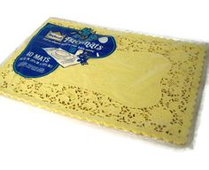 Vintage Paper Doily Yellow Placemats from by MerrilyVerilyVintage, $9.00