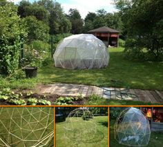 A geodesic greenhouse! They work well, look good and are much easier to make than you might think. If you've been thinking about building a greenhouse, this project is for you! Learn how to make this DIY geodesic dome greenhouse by viewing the full album at http://theownerbuildernetwork.co/7zhf Ready to give it a go?