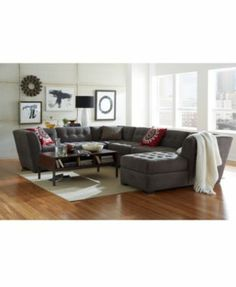 Chaise modular   Harper in grey   $2700, on sale for $2K