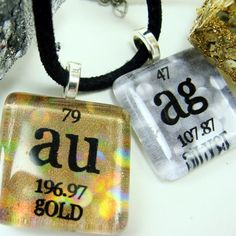 13 best periodic table necklaces images on pinterest periodic gold silver necklace chemistry jewelry periodic table science necklace gift idea urtaz Image collections